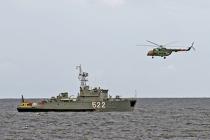 Бригада кораблей охраны водного района Балтийской ВМБ отмечает 69-ю годовщину со дня образования