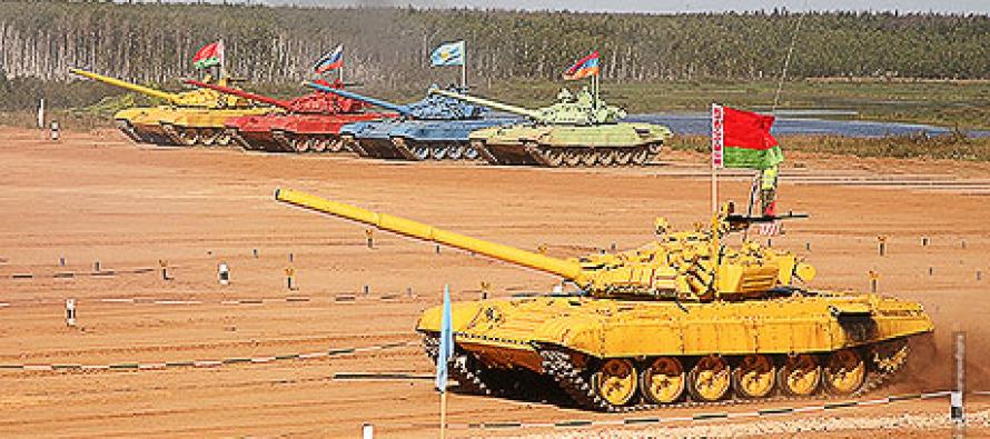 Балтфлот готовится к танковому биатлону