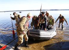 Форсирование Киш-озеро