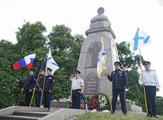 Цветы русским воинам на Луцавсале