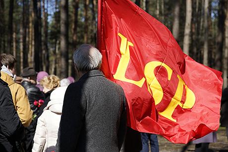 Митинг в Саласпилсе