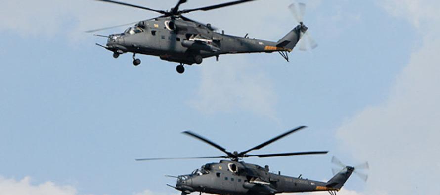 Крупная партия вертолётов