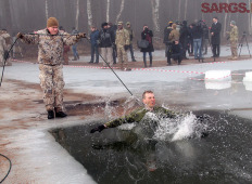 Военные учения «Зима» в Адажи