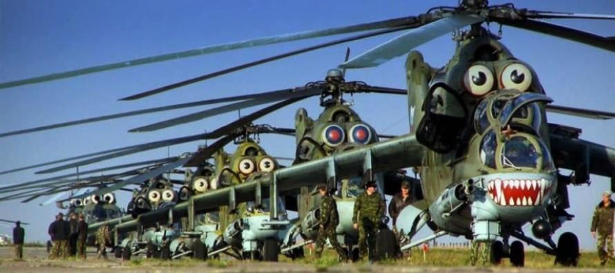 Прибытие новых ударных вертолётов