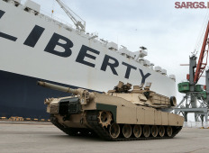 Американская бронетехника прибыла в Латвию