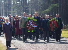 Мемориал Саласпилс: Церемония