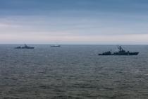 Совместные учения в Каспийском море