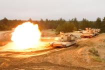 Стрельба Abrams M1A2 в Адажи
