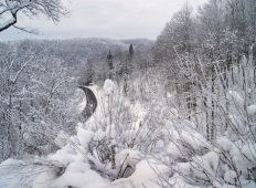 Снежная зима в Сигулде