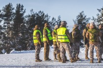 Полевые учения пехотной роты Земессардзе