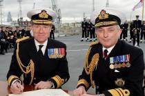 Смена командующего Королевским ВМФ