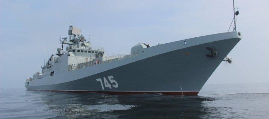 На «Адмирале Григоровиче» поднят Андреевский флаг