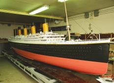 В Риге изготовили модель Титаника