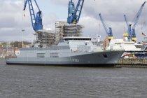Немецкий «суперфрегат» вышел в море