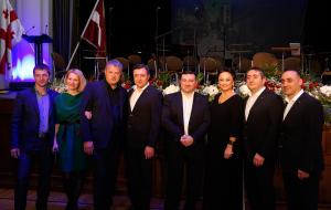 Приём в честь 25-летия восстановления независимости Грузии