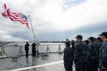 Флагман 6-го флота «Маунт Уитни»прибыл в Ригу
