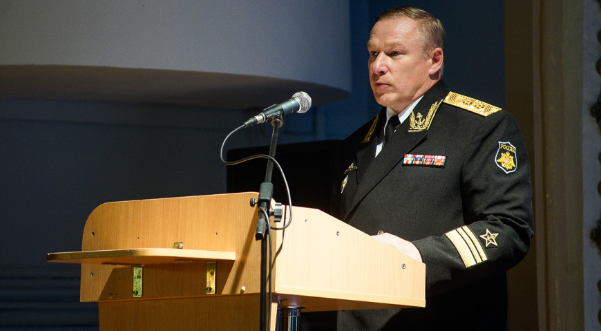 Заместитель командующего Балтийского флота вице-адмирал Елисеев