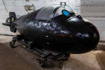 Мини-подлодка ВМФ СССР в Музее океана