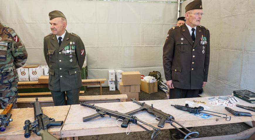 Ветераны Земессардзе с ветеранским вооружением
