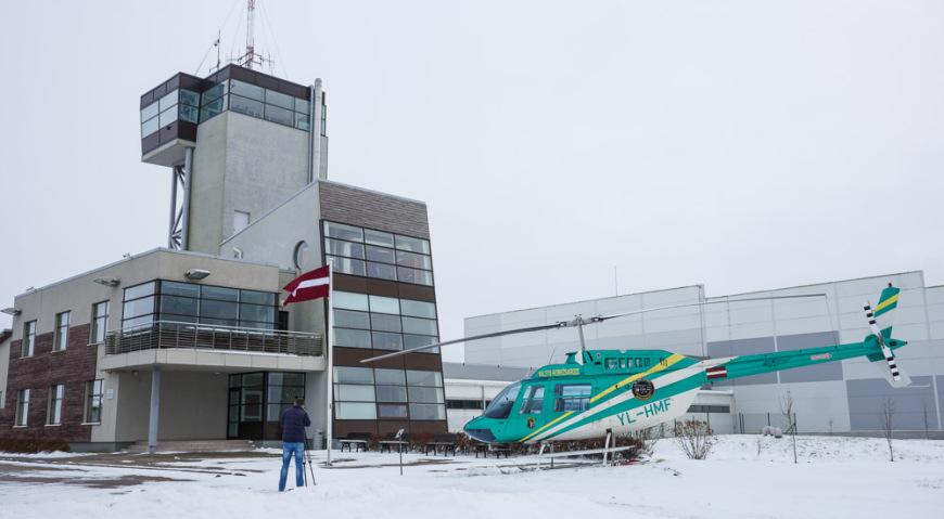 Авиационное управление пограничной охраны Латвии в Лудзе