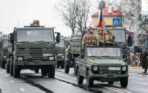 Военный парад в День Независимости Латвии