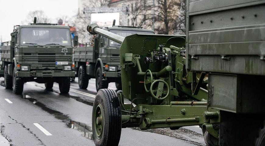 К-53 100-мм пушки латвийской армии
