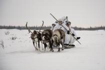 Занятия арктических мотострелков