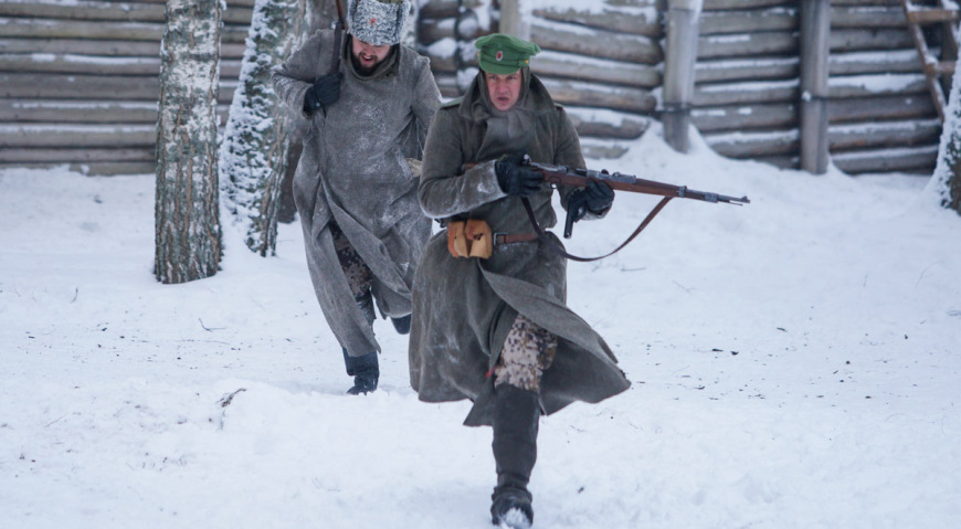 Атака латышских стрелков