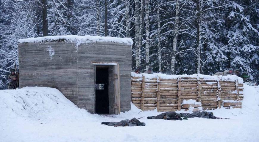 Восстановленный бетонный немецкий бункер Первой мировой войны в Мангали