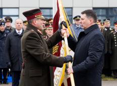 Церемония смены командующего НВС