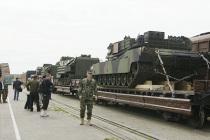 Американские танки везут в Польшу