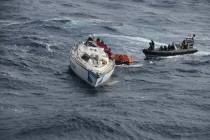 Эсминец HMS Dragon спас 14 моряков в Атлантике