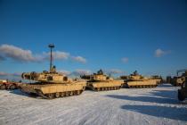 Танки США прибыли в эстонский город Тапа