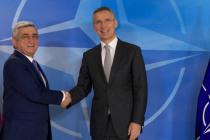 Президента Армении приняли в Штаб-квартире НАТО
