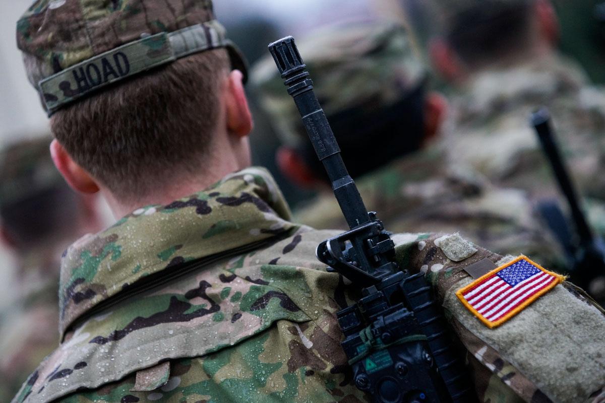 Смена американского контингента в Адажи