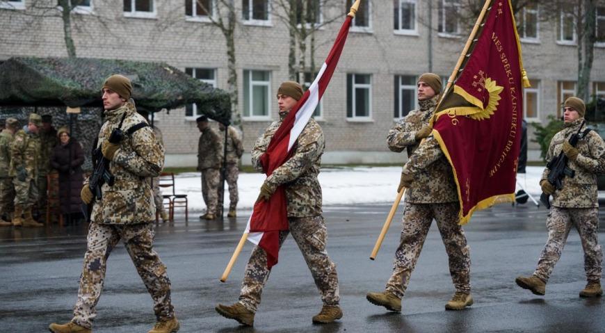 Знамя Латвии в Адажи