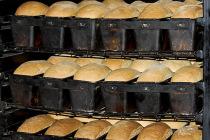 Военные хлебопёки выпекают горячий хлеб