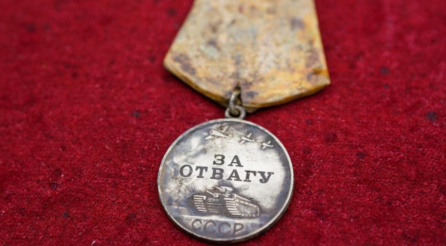 Медаль За отвагу, найденая поисковым отрядом
