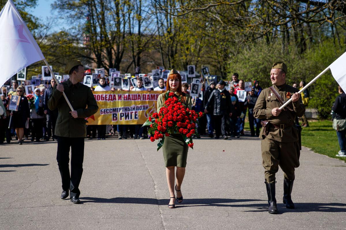 Бессмертный полк 2017 в Риге