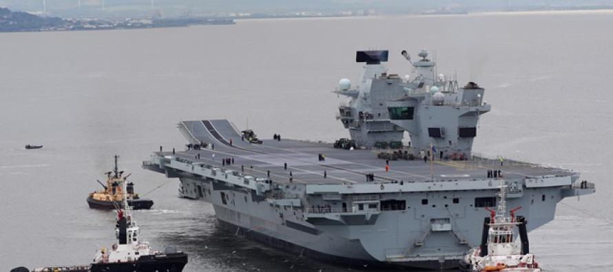 Авианосец HMS Queen Elizabeth вышел на испытания