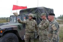 Командиры посетили учения »Saber Strike 2017»