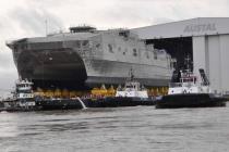 Спустили на воду скоростной военный транспорт