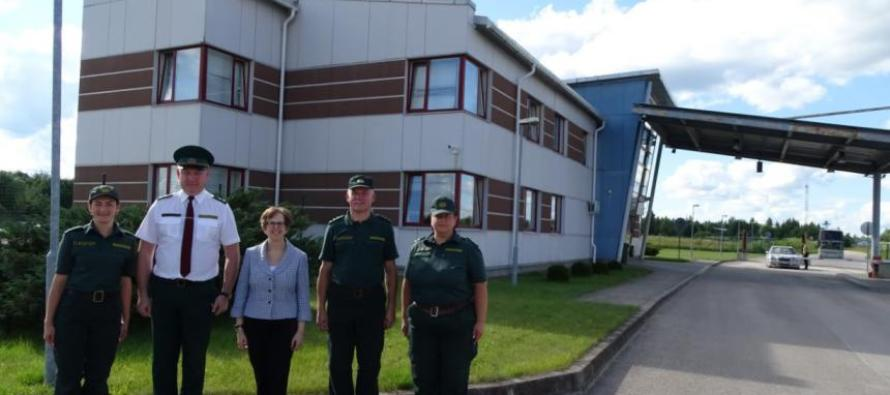 Визит посла США к латвийским пограничникам