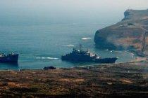 У острова Матуа обследуют затонувшую подлодку