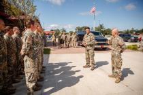 Командующий НВС Калниньш посетил базу в Алпена