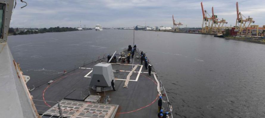 Эсминец «USS James E. Williams» прибыл в Ригу