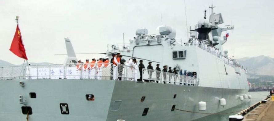 Китайские корабли в Рижском порту