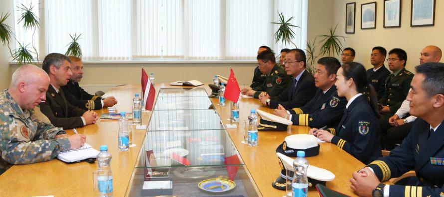 Встреча китайских и латвийских военных