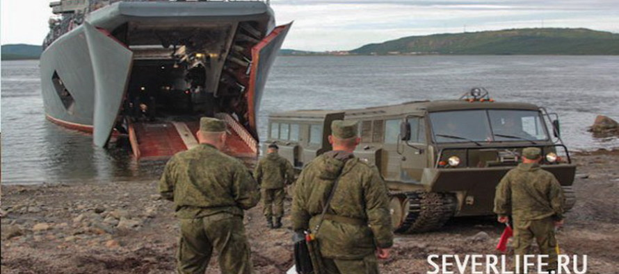 Пехота высадилась на остров Голомянный в Арктике
