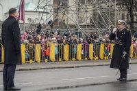 Речь президента Раймонда Вейониса на параде 18 ноября